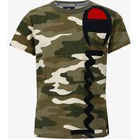 Champion Crewneck T-Shirt - Camo/Grön - unisex - Kläder S