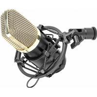 Studiomikrofon med shockmount-fäste och studio-mik-kabel med guldpläterad  kontakt. Hög fb90027e363d7