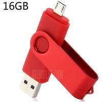 2 in 1 16GB OTG USB 2.0 Flash Drive
