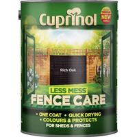 Cuprinol Less Mess Fence Care Wood Protection Black 6L