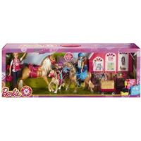 Mattel Barbie Passport Ranch Set with 3 Dolls & Horses