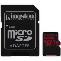 Kingston Canvas React microSDXC Class 10 UHS-I U3 V30 A1 100/80MB/s 512GB +Adapter