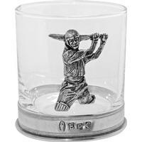 English Pewter Cricket Tumbler glas 32.5 cl