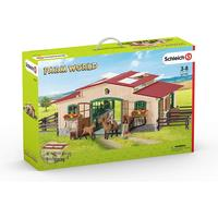 Schleich Stable with Horses & Accessories 42195