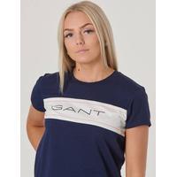 Gant Teen Girls Archive Crew T-shirt - Evening Blue
