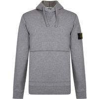 Stone Island Badge Hooded Sweatshirt - Grey V1064