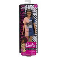 Mattel Barbie Fashionistas Doll Tone Graphic Dress FXL430