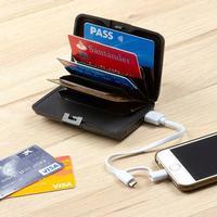 RFID Korthållare med powerbank, Svart