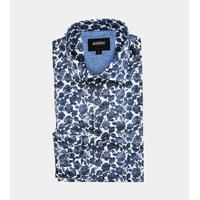 Dahlin Skjorta Blommig Regular cut Blå Blå
