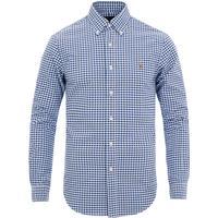 Polo Ralph Lauren Slim Fit Oxford Sport Shirt - BSR Royal/White