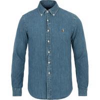 Polo Ralph Lauren Slim Fit Denim Sport Shirt - Dark Wash