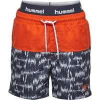 31ab96ca76f Hummel Badeshorts - Spot - UV50 - Orange/Navy m. Mønster - 8 år