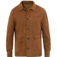Oscar Jacobson Tulio Suede Jacket Brown (XL)