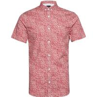 Man Woven Shirt Kortärmad Skjorta Röd ARMANI EXCHANGE - S