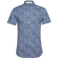 Man Woven Shirt Kortärmad Skjorta Blå ARMANI EXCHANGE - S