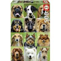 Educa Dogs Collage 500 Pieces