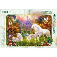Step Puzzle The Castle Unicorns 1000 Pieces