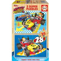 Educa Disney Junior Mickey & the Roadster Racers 2x25 Pieces