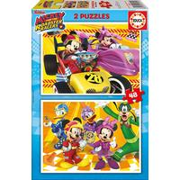 Educa Mickey & the Roadster Racers 2x48 Pieces