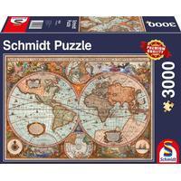Schmidt Antique World Map 3000 Pieces