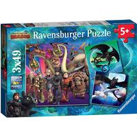 Ravensburger How to Train Your Dragon 3x49 Pieces