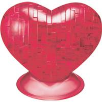 Hcm-Kinzel Crystal Puzzle Heart Red 46 Pieces