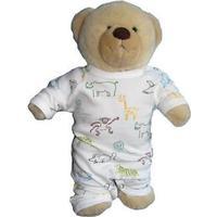IdaT Build a bear / dukke heldragt hvid multiprint dreng