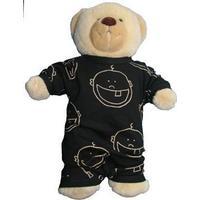 IdaT Build a bear / dukke heldragt sort ansigt