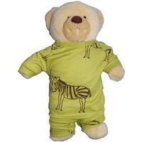 IdaT Build a bear / dukke heldragt limegrøn zebra