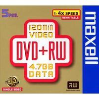 Maxell DVD+RW 4.7GB 4x Jewelcase 5-Pack