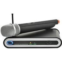 QTX Trådlös mikrofon med extra hög ljudkvalitet 30Hz - 22.000Hz, lågt brus -105dB, med signalkabel, FM UHF mottagare, antenn, strömaggregat, batterier, bruksanvisning. Enkel att använda - plug play. Volym,UH5 HANDHELD UHF WIRELESS MICROPHONE SYSTEM