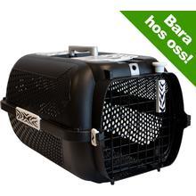 Catit White Tiger Voyageur Transportbur för katter- svart - Storlek XS: L 57 x B 38 x H 31 cm