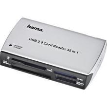 HAMA Minneskortläsare USB 2.0 Grå/Svart Universal