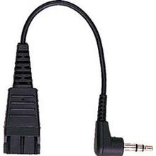 Jabra QD Cord to 3,5mm stereo plug , 15 cm, straight; for Agfeo T15, ST15, Auerswald Comfort 300