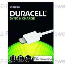 Duracell Lightning till USB-kabel 2m Vit