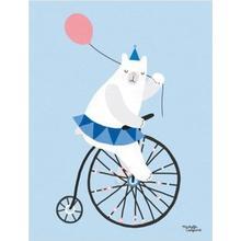 Michelle Carlslund Cycling Bear Poster
