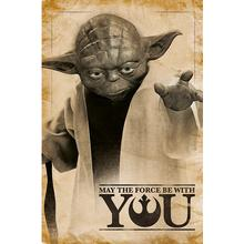EuroPosters Star Wars Yoda may the Force be with You Poster