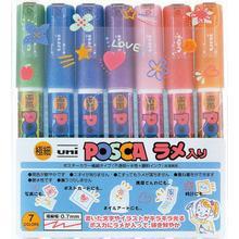 Uni Posca Marker PC-1M 7-set Glitter