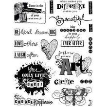 Hot Off the Press Clearstamps Kit - Artful Affirmations - Hot Off the Press