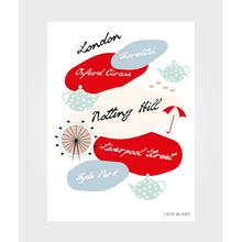 Lilys Island Poster London City 50x70cm