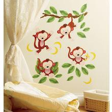 Wallies Baby Monkeys Vinyl Decals
