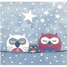 Livone Barnmatta Happy Rugs Owl 140x140cm
