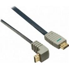 Bandridge HDMI - HDMI High Speed with Ethernet (angled) 90° 1m
