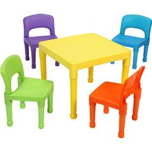 Liberty House Toys Children's Multi Coloured Table & 4 Chairs Set
