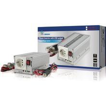HQ Strömomvandlare Modifierad Sinusvåg 12 VDC - AC 230 V 300 W F (CEE 7/3) / USB