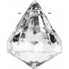 Prisma, stl. 25x22 mm, hålstl. 2 mm, 14 st., Blank transparent