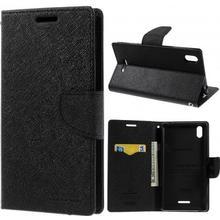 MERCURY Goospery Fancy Diary Till Sony Xperia T3 - Svart - Mercury