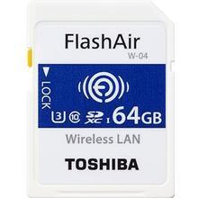 Toshiba FlashAir W-04 SDXC Class 10 UHS-I U3 90/70MB/s 64GB