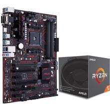 ASUS Prime B350-Plus + AMD Ryzen 5 1600 S-AM4