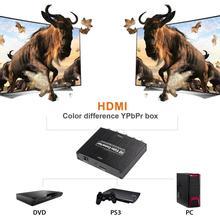 HD video-omvandlare HDMI till komponent RGB (YPbPr) och ljud L/R (LPCM)